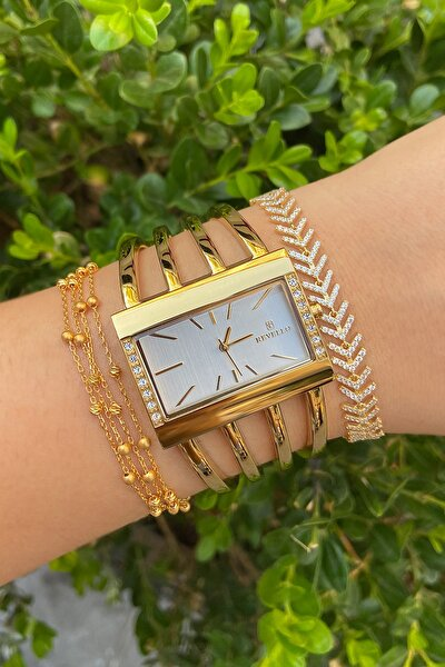 Kadın Altın Kaplama Kaburga Saat