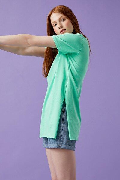 Kadın Yeşil T-Shirt 1YAL18655OK