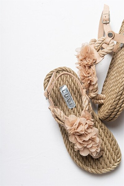 404 Bej Kadın Sandalet