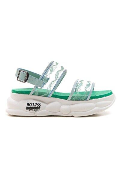 309 Yeşil Kadın Sandalet