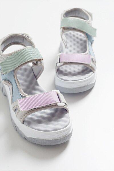 Kadın Gri Sandalet 4740
