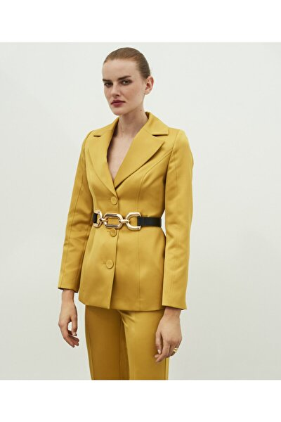 Bel Vurgulu Ceket