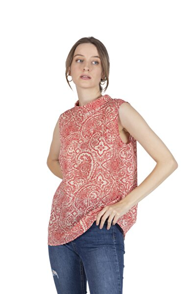 Kadın Kırmızı Beti Bluz