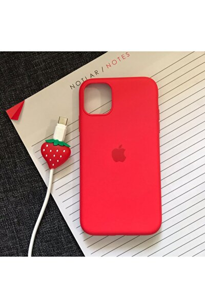 Iphone 11 Model Logolu Lansman Kılıf Kablo Koruyucu