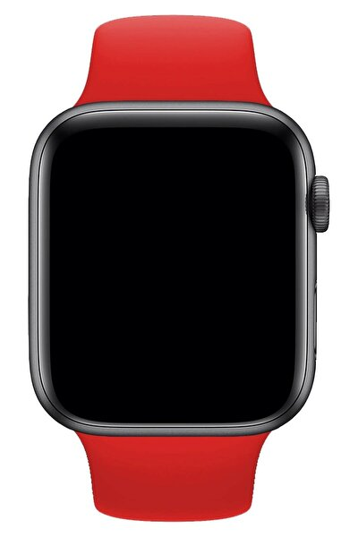 Watch 1 2 3 4 5 6 Se 44 Mm Silikon Ayarlanabilir Kordon Kırmızı + Popsocket