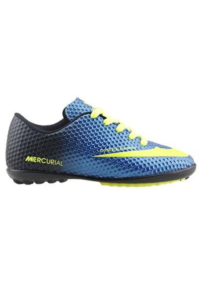 Mavi Sarı Erkek Halı Saha Ayakkabı&krampon 19sezaywal00001