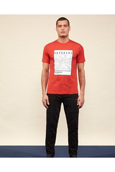 Graphic Tee M Crew Neck T-Shirt Erkek Turuncu Tshirt