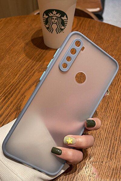 Xiaomi Redmi Note 8 Kenarları Renkli Kamera Korumalı Transparan Silikon Kılıf