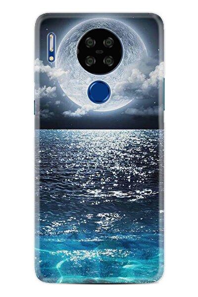 P13 Blue Max Lite Kılıf Desenli Silikon Kılıf Great Moon 1301