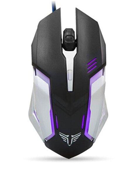 Işıklandırmalı Gaming Pro Tasarım Usb Siyah/gümüş Işıklandırmalı Oyuncu Mouse - 7 Renk