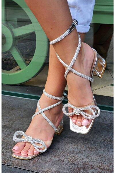 Muse Lower Kristal Taşlı Ayakkabı Gümüş