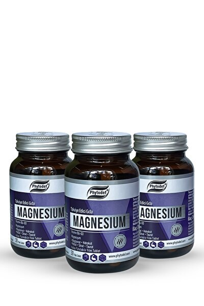 Magnesium Vitamin B6 + D3 - 30 Tablet X 3 Adet