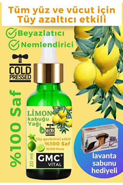 Limon Kabuğu Yağı Tüy Geciktirici Tüy Azaltıcı Serum 20ml Cold Pressed %100 Saf