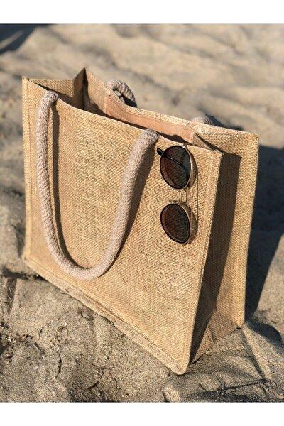 Kadın Hasır Plaj Çantası