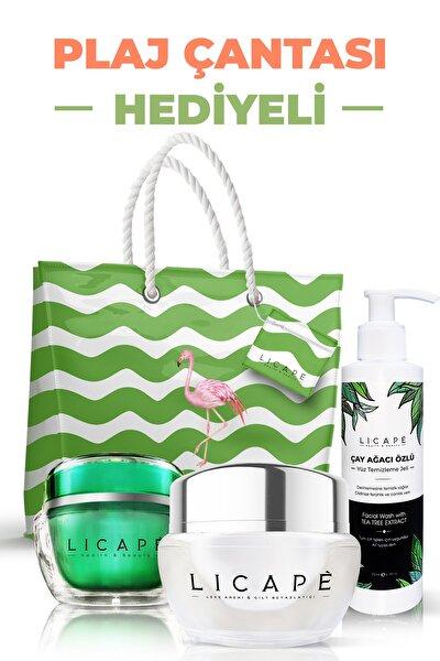 Leke Kremi Ve Cilt Beyazlatıcı + Besleyici Çay Ağacı Gece Maskesi + Çay Ağacı Yüz Temizleme Jeli