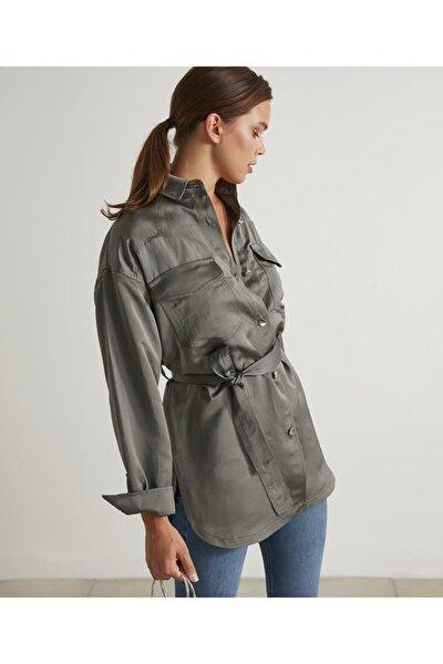 Keten Karışımlı Gömlek Ceket
