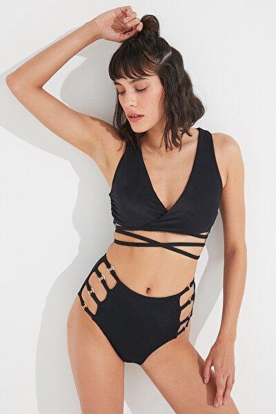 Siyah Lera Tee Bikini Üstü
