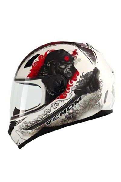 Vf-391 Samurai Graphic-2 Kapalı Motosiklet Kaskı