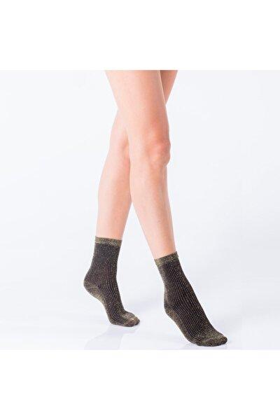 Veronica Luxury Kadın Soket - Siyah-altın