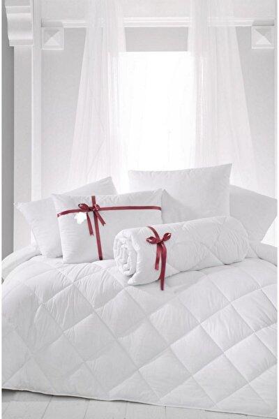 Çift Kişilik Antialerjik Lüx Microfiber Yorgan + 2 Adet 800 Gr Boncuk Slikon Yastık Seti