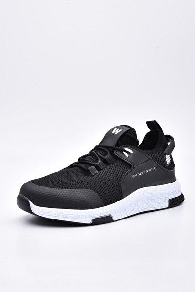 Siyah Beyaz Sneaker Spor Ayakkabı