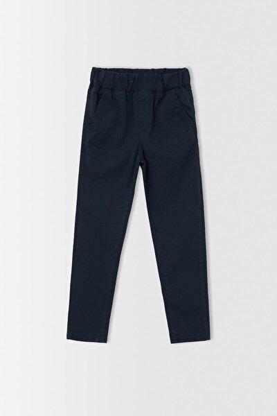Erkek Lacivert Erkek Çocuk Relax Fit Esnek Belli Pantolon T8850A621AU