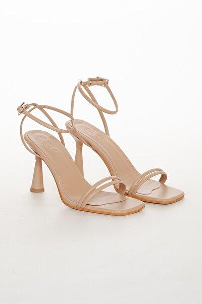 Kadın Yazlık Topuklu Ayakkabı H2244220 Nude