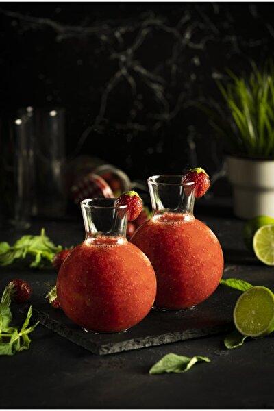 2 Adet Tombul Sunum Bardağı - Trend Meyve Suyu Ve Içecek Bardağı - 2'li Set