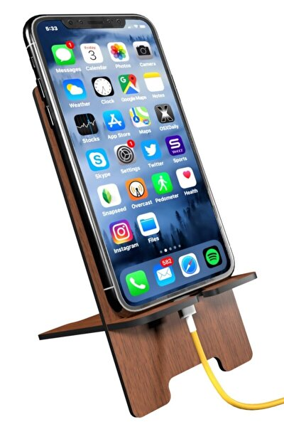 Ahşap Telefon Tutucu Cep Telefonu Standı