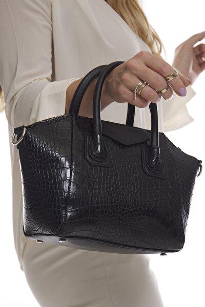 Siyah Kroko Kadın Omuz Ve El Çantası Fb3151