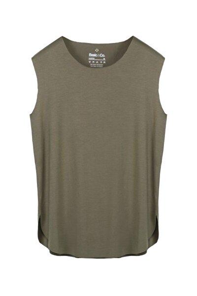 Harper Yeşil Viskon Kolsuz T-shirt/atlet