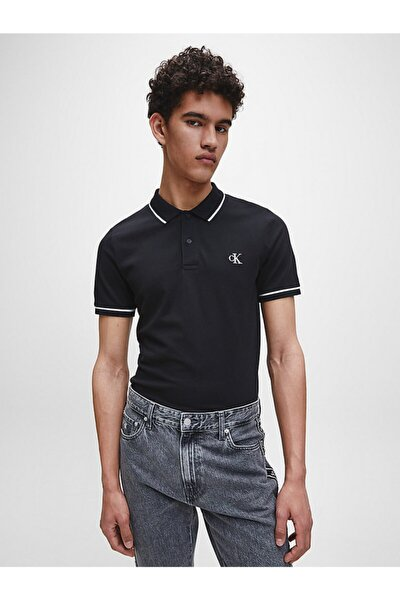 Erkek Siyah Kısa Kollu Polo Tshirt