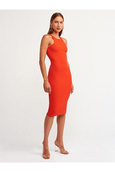 Halter Yaka Elbise Kırmızı