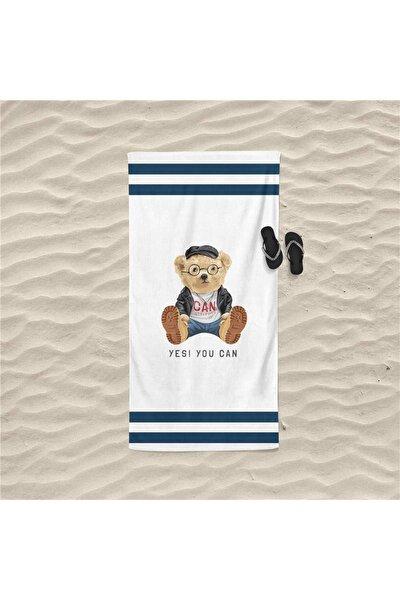 Teddy Bear Figürlü Özel Tasarım Plaj Havlusu