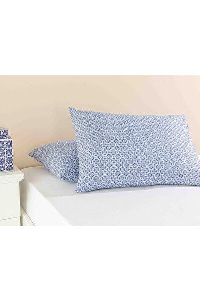 Blue Blanc Pamuklu 2'li Yastık Kılıfı 50x70 Cm Lacivert