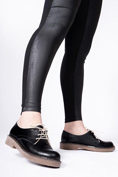 Kadın Siyah Hakiki Deri Casual Ayakkabı