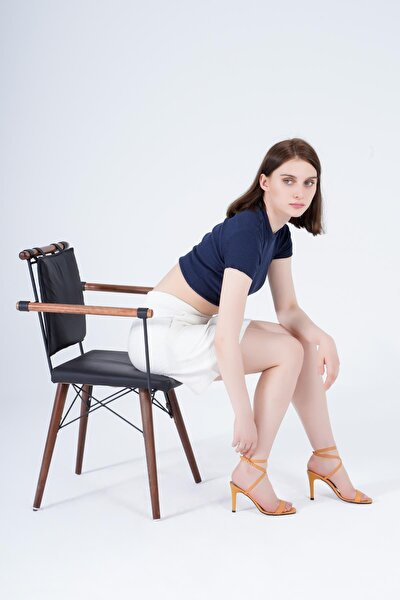 Kadın Sandalet Bilekten Bağlamalı Topuklu Ayakkabı