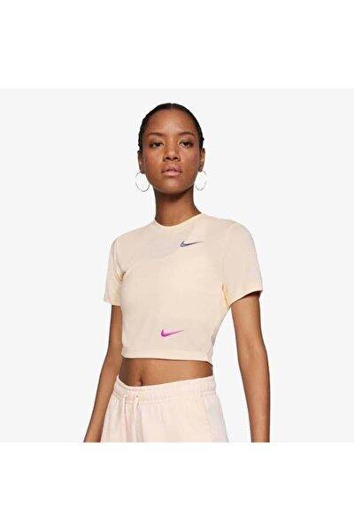 Kadın Pembe T-shirt - W Nsw Tee Slim Crop Top - Cu1529 664