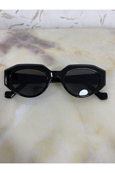 Unisex Köşeli Tasarım Güneş Gözlüğü Siyah Al 500 506