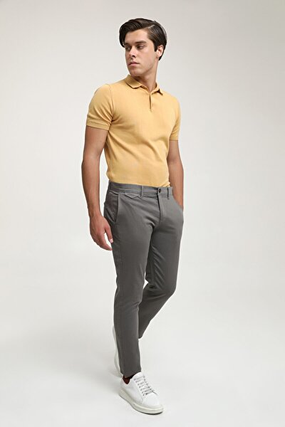 Slim Fit Gri Chino Pantolon