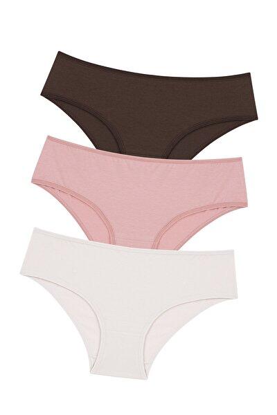Çok Renkli Cover Colors Perfect Nude 3lü Slip Külot