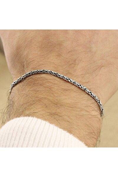 925 Ayar Gümüş Erkek Kral Zincir Bileklik