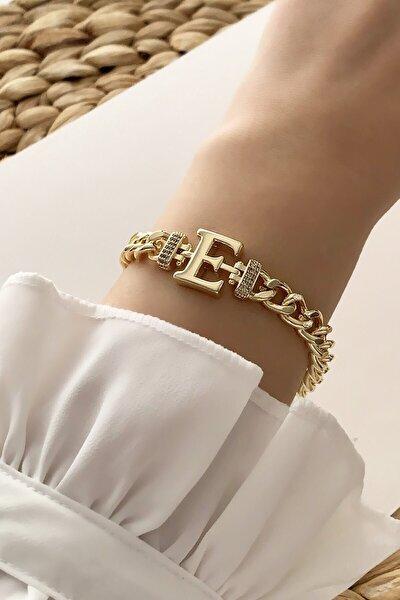 Gold E Harf Bileklik Trbilek7538 B34003