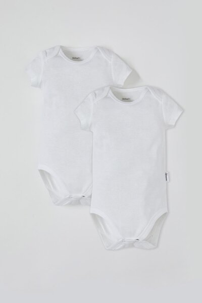 Erkek Bebek Kısa Kol Çıtçıtlı 2'li Pamuklu Body