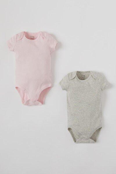 Kız Bebek Basic Kısa Kol Çıtçıtlı 2'li Body