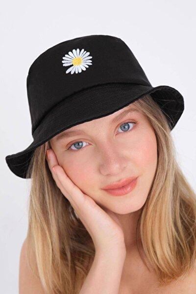 Papatya Işlemeli Bucket Şapka Şpk1035 - E2