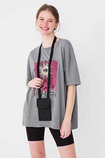 Kadın Siyah Telefon Bölmeli Cüzdan Çanta Ç421 - F10 Adx-0000023861