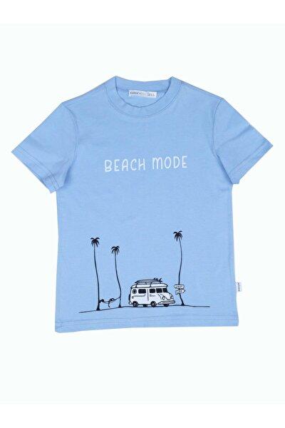 Erkek Çocuk Beach Mode Mavi Tshirt