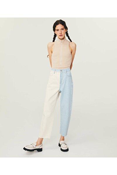 High Rise Cropped Slim Jean Pantolon