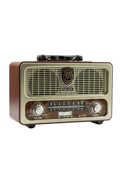 M-111bt Nostaljik Ahşap Retro Fm Radyo Usb Sd Bluetooth